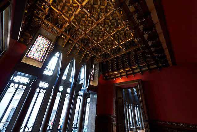 Palau Güell techo