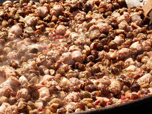 caracoles cocinados